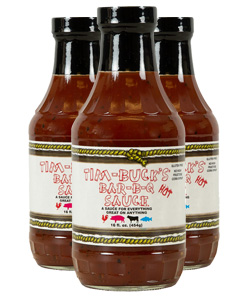 Tim-Buck's HOT Bar-B-Q Sauce (3 Pack)